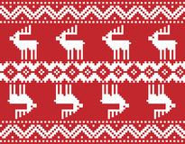 Bordado do Feliz Natal Imagens de Stock Royalty Free