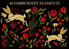 Bordado en las materias textiles libre illustration