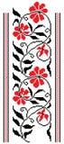 Bordado floral ilustração do vetor