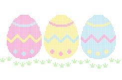 Bordado - huevos de Pascua Imagen de archivo