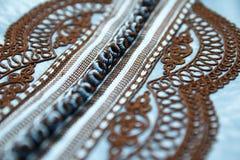 Bordado marroquino da cafetã Fotografia de Stock
