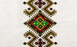 bordado orname étnico ucraniano Fotografia de Stock