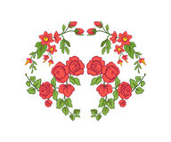 Bordado para la línea del cuello Ornamento floral en estilo del vintage Fotografía de archivo libre de regalías