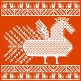 Bordado popular ruso y ucraniano, modelos Ilustración del vector Imágenes de archivo libres de regalías