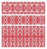 Bordado ruso del ornamento Imágenes de archivo libres de regalías