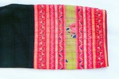 Bordado tailandés, estilo hecho a mano de la materia textil de la tribu Imagen de archivo libre de regalías