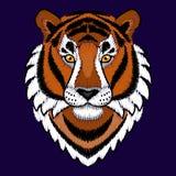 Bordado Tiger Head Imagen de archivo