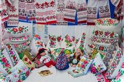 Bordado tradicional ucraniano Fotos de archivo