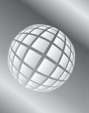 Bordadura cinzenta a esfera no espaço Foto de Stock