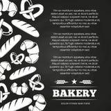Bordaffiche met brood en croissant - van het achtergrond bakkerijbord ontwerp vector illustratie