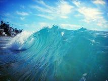 Bordage de la vague Photo libre de droits
