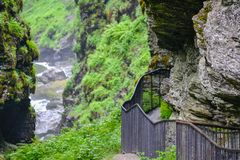 Bordalsgjelet-Schlucht, Norwegen, Skandinavien, Tourismus, dieser Platz wird nahe von Voss-Stadt aufgestellt lizenzfreie stockbilder