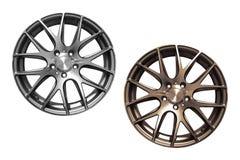 Bordas de alumínio da roda do carro Imagem de Stock