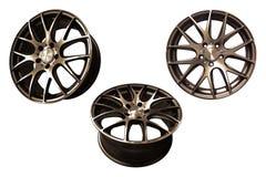 Bordas de alumínio da roda do carro Fotos de Stock Royalty Free