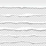 Bordas de papel rasgadas sem emenda Foto de Stock