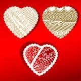Bordas scalloped de Patterened corações orgânicos Foto de Stock