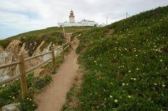 Borde Cabo DA Roca, Portugal de los acantilados Imagen de archivo