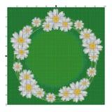 Borde a camomila da flor para as mãos de um bordado uma cruz Imagem de Stock