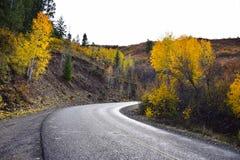 Borde de la carretera que pone en contraste Imagen de archivo