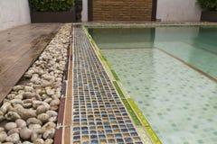 Borde de la piscina Imagen de archivo libre de regalías