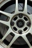 Borde de la rueda del coche de competición Fotos de archivo libres de regalías