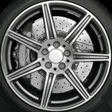 Borde de la rueda del cromo Foto de archivo
