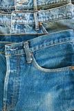 Borde de los pantalones vaqueros Imagenes de archivo