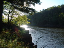 Borde de los ríos Fotografía de archivo libre de regalías