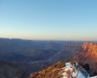 Borde del sur de Grand Canyon en la puesta del sol Fotografía de archivo