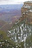 Borde del sur de la barranca magnífica en invierno Fotos de archivo