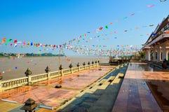 Borde el río Mekong tailandés Imágenes de archivo libres de regalías