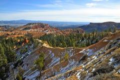 Borde hivernal de Bryce Canyon National Park, Utah Foto de archivo libre de regalías