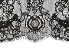 Borde negro del cordón Fotografía de archivo libre de regalías