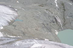 Borde resistente de un glaciar Fotos de archivo libres de regalías