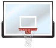 Borde y tablero trasero del baloncesto Fotos de archivo