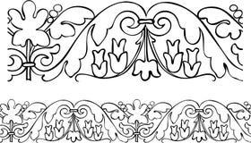 borde zarysowywający stylowy wiktoriański royalty ilustracja