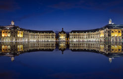 Bordeaux. Reflections at the stock place royalty free stock photos