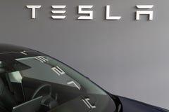 Free Bordeaux , Aquitaine / France - 11 13 2019 : Tesla Store Logo Sign Dealership Reflection In Model 3 Stock Photos - 164002133
