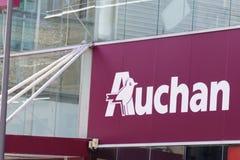 Bordeaux , Aquitaine / France - 02 15 2020 : Auchan hypermarket logo sign store French grocery retailer supermarket