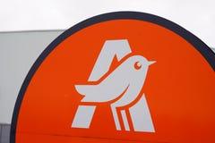 Bordeaux , Aquitaine / France - 01 15 2020 : Auchan logo of French retailer sign supermarket shopping centre