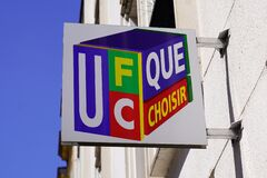 UFC Que Choisir logo and sign office front of French consumers group agency protect