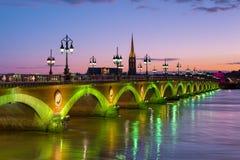 Bordeaux bij een de zomernacht Royalty-vrije Stock Fotografie