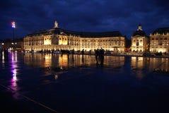 Bordeaux bis zum Nacht Lizenzfreie Stockfotografie