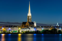 Bordeaux at a black summer night Royalty Free Stock Images