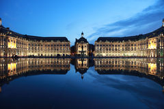 bordeaux bourse de la place 免版税库存图片