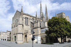 Bordeaux Cathedral. A view of Bordeaux Cathedral in France Royalty Free Stock Images