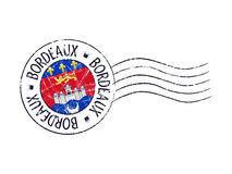 Bordeaux city grunge postal rubber stamp Royalty Free Stock Photography