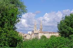 Bordeaux city. Large view on Saint louis church in bordeaux city (france royalty free stock photography