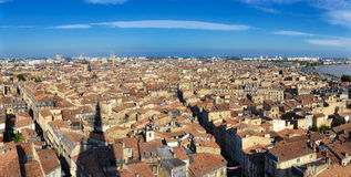 Bordeaux city panorama from St Michel tower Royalty Free Stock Images