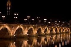 Bordeaux d'à de Le pont de Pierre Image stock